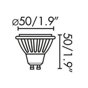 LED LEMPUTĖ faro 8W GU10 4000K www.gerasviesa.lt