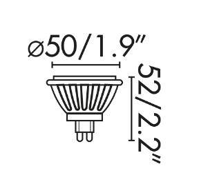 Ispanija  8W MR16 2700K