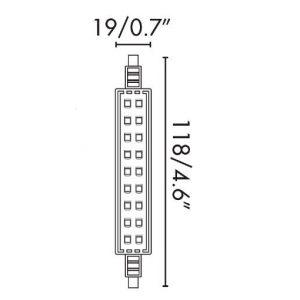 Ispanija 8W JP118MM R7s 2700K www.gerasviesa.lt